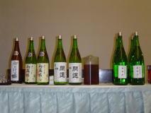 開運(かいうん)土井酒造場蔵見学会の宴会のお酒