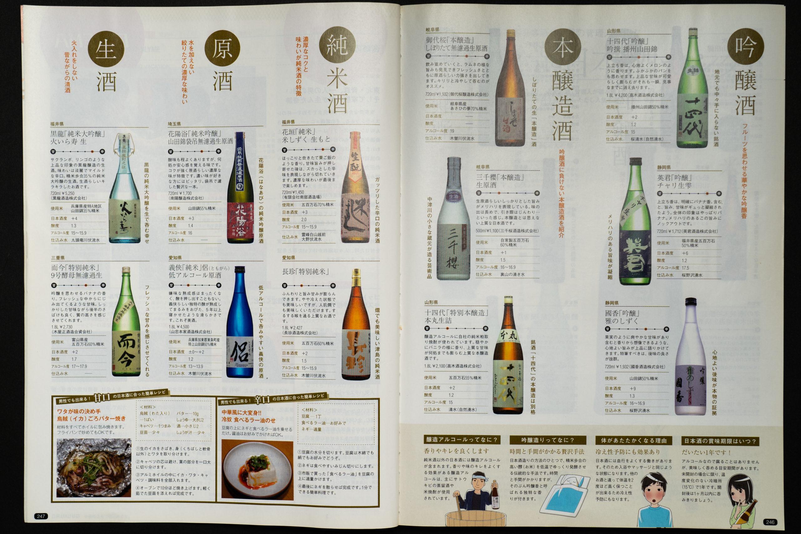 日本酒特集の監修その2