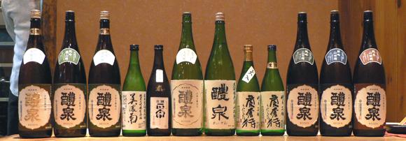 醴泉を楽しむ会出品酒