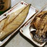 日本酒と干物