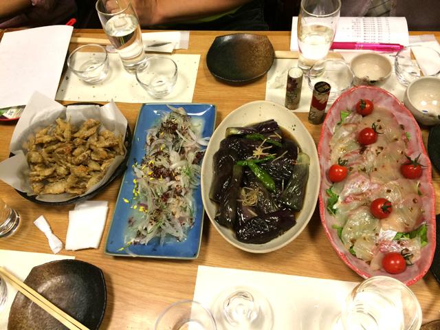 田酒(でんしゅ)を楽しむ会in岡山料理その1