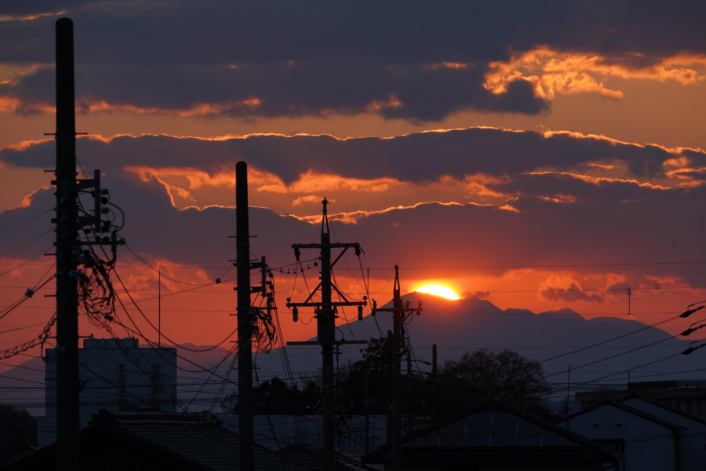 職場の夕日