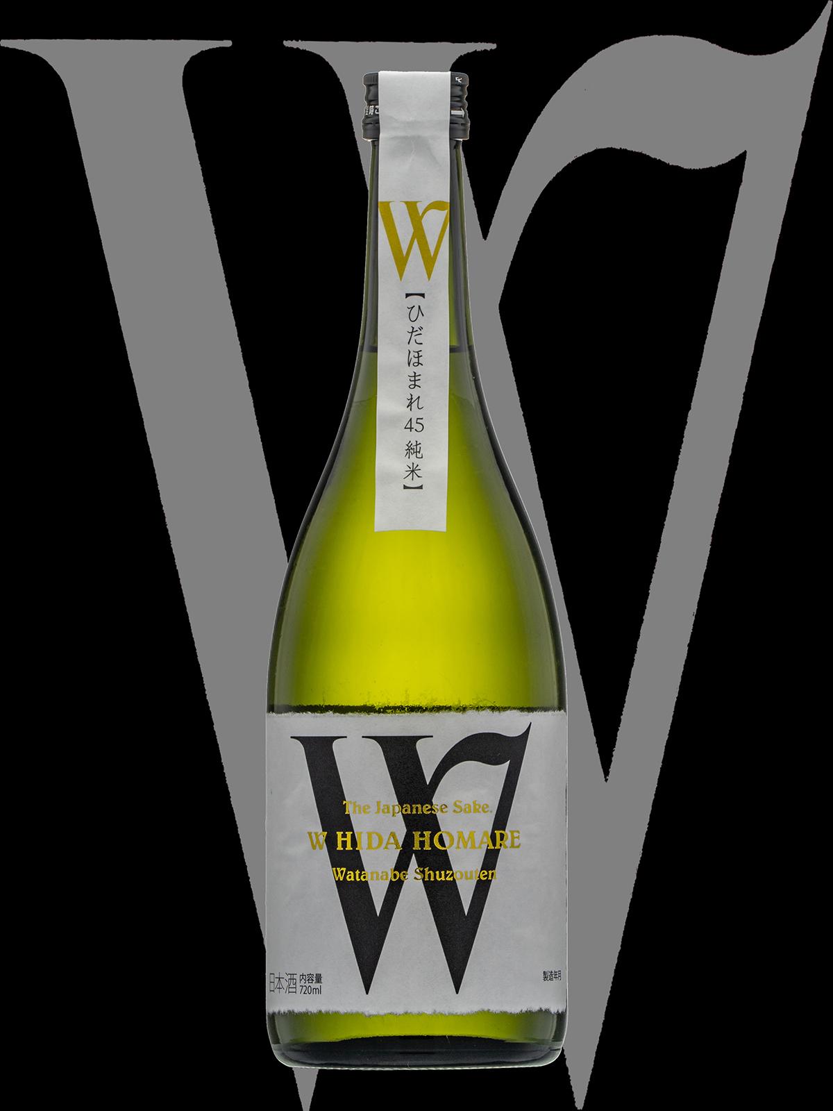 W(ダブリュー)「純米大吟醸」ひだほまれ無濾過生原酒